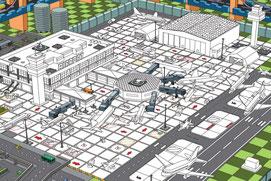 エアポートライブポスターの空港図