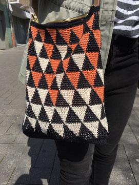 Tasche häkeln Geometrie DIY omniview