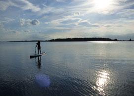 SUP Verleih an der Ostsee im Salzhaff
