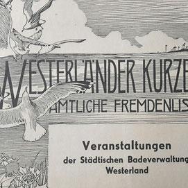 Vintage Werbung Sylt