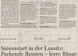 Freie Presse Chemnitz 22.04.2013