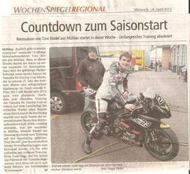 Einführungslehrgang, Lausitzring, April 2012, IDM, Yamaha R6 Cup