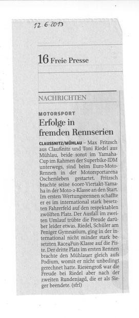 Freie Presse 12.06.2013