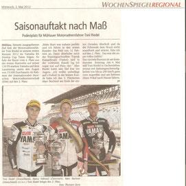 Wochenspiegel, Lausitzring, 1. Rennen IDM, Yamaha R6 Dunlop Cup 2012