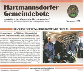 Hartmannsdorfer Gemeindebote 18.04.2013