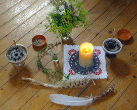 Räucherwerk,Räucherpflanzen, Räuchersiebe im Gudwork