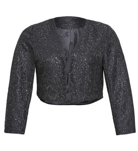 elegante schwarze kurze Damenjacke XXL