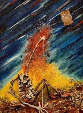 Job (Le dernier tableau réalisé par Jacques Braunstein en 2014, avant de décider d'arrêter sa création).