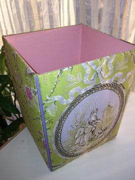 トワルトジュイ生地のボックス