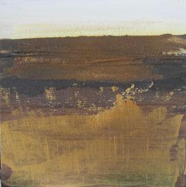 Nr. 2010-HO-016: 30x 30 cm, Acryl, Strukturmasse, Rosteffekt auf Malplatte