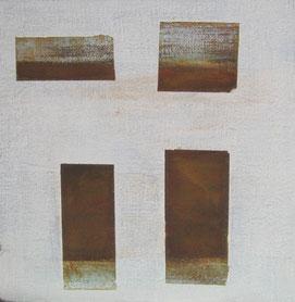 Nr. 2010-HO-015: 30x 30 cm, Acryl, Strukturmasse, Rosteffekt auf Malplatte