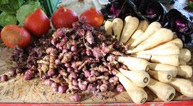 Bio-Gemüse aus Brandenburg. Kollwitzmarkt. Foto: Helga Karl
