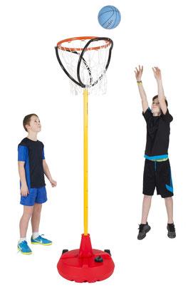 Matériel de Korfball avec panier et base avec poteau de korfball à acheter pas cher. Matériel sportif de korfball à prix discount.
