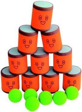 Jeu enfant du chamboul'tout. Jeu amusant en mousse inclus 10 boîtes en mousse à viser pour jeux d'enfants.