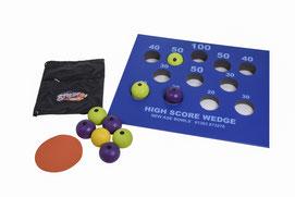 Ensemble de boules de pétanque street enfants légères. Boules de pétanque de rue enfants au meilleur prix associées à cible multi-balles de couleur bleu.