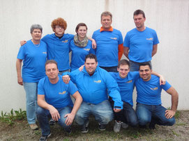 Karin,Nico,Timo,Natascha,Patrick,Joachim,Lars,Holger und Yilmaz