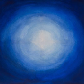 Gemälde mit blauem Kreis
