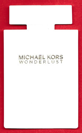 MICHAEL KORS : WONDERLUST - CARTE REPLIQUE AVEC VERSO ECRIT MANUELLEMENT
