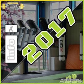 Grafik zum Rückblick Jahr 2017 der Kampfsportschule & Fitnessstudio in Friesoythe