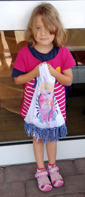 Die jüngste Teilnehmerin, die sechsjährige Safia. Foto: Karin Hartmann-Neudek