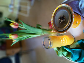 Kerze Räucherwerk Blume