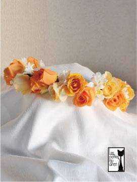 オレンジのバラ 花冠