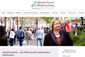 Website von Astrid Lorentz - Bremer Finanzbüro