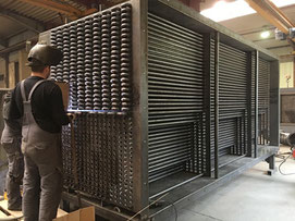 Luftvorwärmer für den Einsatz in einer Destille in Schottland