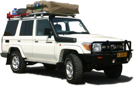 Campingsafaris in Namibia - Allradfahrzeug