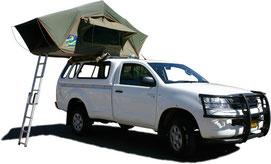 Campingsafaris in Namibia - Allradfahrzeug mit Zelt