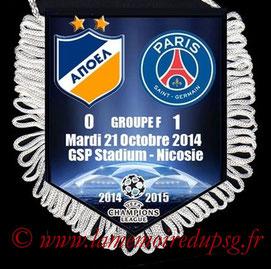 Fanion  Apoel Nicosie-PSG  2014-15