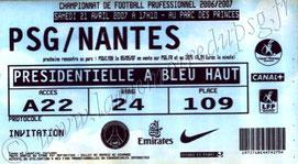2007-04-21  PSG-Nantes (33ème L1, ter)