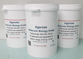 Agarose, Gelelekrophorese, Gel gießen