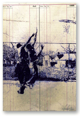 PEER BOEHM, 2020, Playstation Kugelschreiber auf Papier, 37 x 25 cm, € 1.900,--