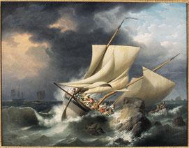 Louis-Philippe Crépin, Scène de naufrage, vers 1800, collection musée des beaux-arts de Brest.