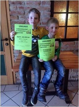 Je ein 5.Platz für Jan-Niclas Hartl und Maximilian Stadlbauer