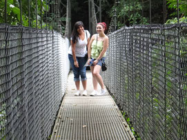 Walking at Hanging Bridges and trails