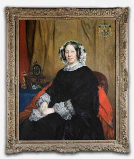 La comtesse Ferdinand-Phillippe de Meeûs peints par Portaels