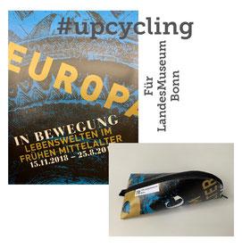 Upcycling-Mäppchen und Recycling-Mäppchen als Geschenk. Echte Unikate aus eigenen Planen für Kunden aller Museen. Alternativ, einzigartig, Made in Germany unter sozialen und nachhaltigen Bedingungen.