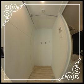 洗濯機置場↓360°画像によるバーチャル内覧はこちら。↓レジデンスパーク札幌北