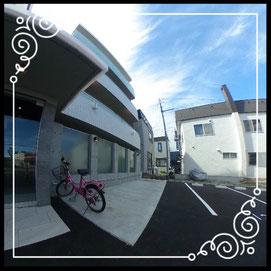 外観③駐輪場↓360°画像によるバーチャル内覧はこちら。↓レジデンスパーク札幌北