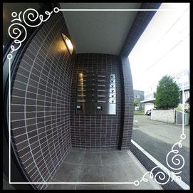 エントランス①郵便BOX↓360°画像によるバーチャル内覧はこちら。↓グレースガーデンN30