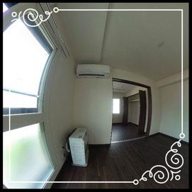 リビング②エアコン付き↓360°画像によるバーチャル内覧はこちら。↓グレースガーデンN30-201号室