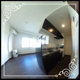 キッチン①室内↓360°画像によるバーチャル内覧はこちら。↓グレースガーデンN30-202号室