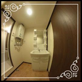 洗面台①室内↓360°画像によるバーチャル内覧はこちら。↓グレースガーデンN30-202号室