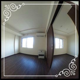 リビング③冷暖房機①②↓360°画像によるバーチャル内覧はこちら。↓グレースガーデンN30-203号室