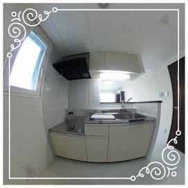 キッチン↓パノラマで内覧体験できます。↓マンダリン北7条302号室-MandarinN7-302