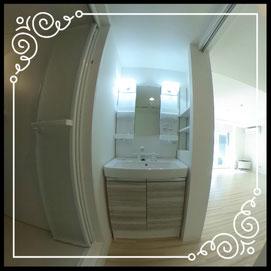 洗面台↓360°画像によるバーチャル内覧はこちら。↓レジデンスパーク札幌北