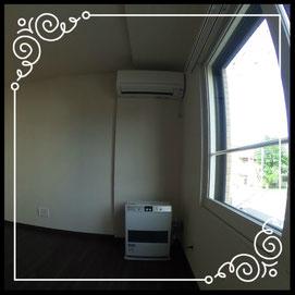 リビング②エアコン付き↓360°画像によるバーチャル内覧はこちら。↓グレースガーデンN30-202号室