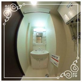 洗面所↓パノラマで内覧体験できます。↓マンダリン北7条302号室-MandarinN7-302